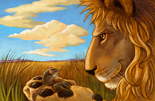 Aesops Fables with a Twist: The Lion and the Mouse