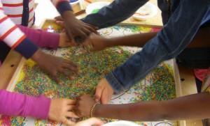 creating rainbow rice