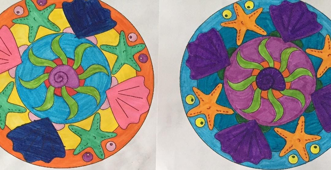 Sea Shell Mandala Coloring Page