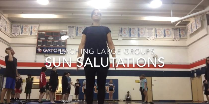 Teaching Large Groups – Sun Salutations
