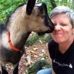 Wynne w her goats